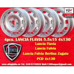 4 pcs. Lancia Flavia Tecnomagnesio Style 5.5Jx15 ET23 4x130 wheels