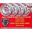 4 pcs. Llantas Lancia Flavia 5.5Jx15 ET23 4x130 Tecnomagnesio Style