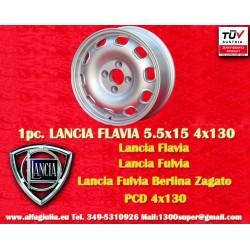 1 pc. Lancia Flavia Tecnomagnesio Style 5.5Jx15 ET23 4x130 wheel