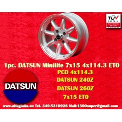 1 pc. Datsun Minilite  7x15 ET0 4x114.3 wheel