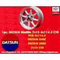 1 Stk. Felge Datsun Minilite  7x15 ET0 4x114.3