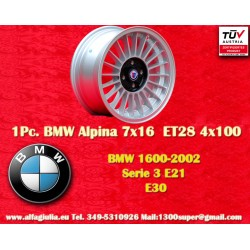 1 pc. BMW Alpina 7x16 ET28 4x100 wheel