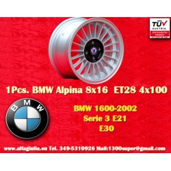 1 Stk. Felge BMW Alpina 8x16 ET28 4x100