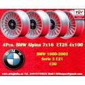 4 pz. Llantas BMW Alpina 7x16 ET28 4x100