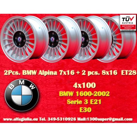 Wheels BMW Alpina 4x100 2 pcs. 7x16 + 2 pcs. 8x16