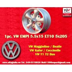 1 pz. llantas Volkswagen  EMPI 5.5x15 5x205 ET10