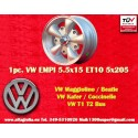 1 pc. Volkswagen  EMPI 5.5x15 5x205 ET10 wheels