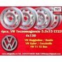 4 cerchi Volkswagen 5.5x15 ET23 4x130 stile Tecnomagnesio