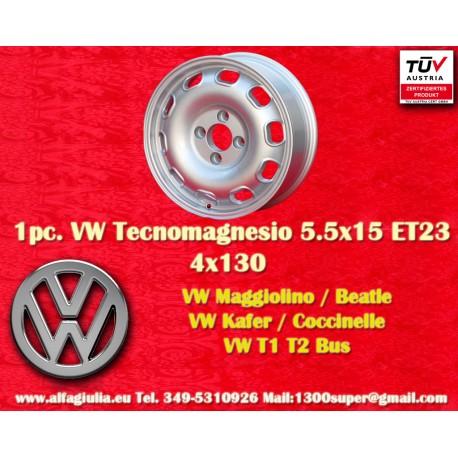 4 cerchi Volkswagen 5.5Jx15 ET23 4x130 stile Tecnomagnesio