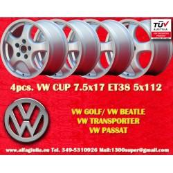 4 pcs wheels Volkswagen CUP 7.5x17 ET38 5x112