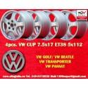 4 pcs. jantes Volkwagen CUP 7.5x17 ET38 5x112