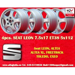 4 pcs wheels Seat CUP 7.5x17 ET38 5x112