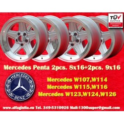 4 PCS AMG Penta Mercedes 2pcs. 8x16 + 2 pcs. 9x16 Wheels