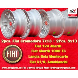 2 pcs. jantes Fiat Cromodora CD66 7x13 + 2 pcs. Cromodora CD80 8x13 4x98