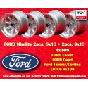 Ford Minilite 2 Cerchi 8x13 + 2 Cerchi 9x13 4x108 TUV