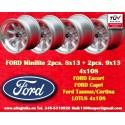 Ford Minilite 2 pcs. 8x13 + 2 pcs. 9x13 wheels 4x108 TUV