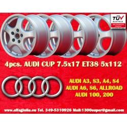 4 PCS Audi Cup wheels 7.5x17 5x112 TÜV