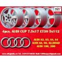 4 Llantas Audi A3 A4 A6 100 200 7.5x17 TÜV