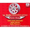 1 pz. llanta Austin Minilite 5.5x15 ET15 4x114.3