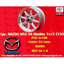 1 pc. Mazda Minilite  7x15 ET35 4x100 wheel