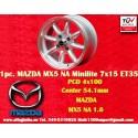 1 pz. llanta Mazda Minilite  7x15 ET35 4x100