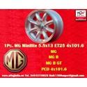1 pc. jante MG Midget / Austin Healey Sprite 5.5x13 ET25 4x101.6