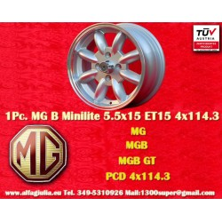 1 pc. cerchio MG Minilite 5.5x15 ET15 4x114.3