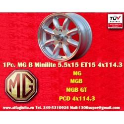 1 Stk. Felge MG  Minilite 5.5x15 ET15 4x114.3
