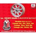1 Stk. Felge Triumph Minilite 5.5x15 ET15 4x114.3