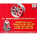 1 pc. Triumph Minilite 7x15 ET0 4x114.3 wheel