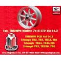 1 Stk. Felge Triumph Minilite 7x15 ET0 4x114.3