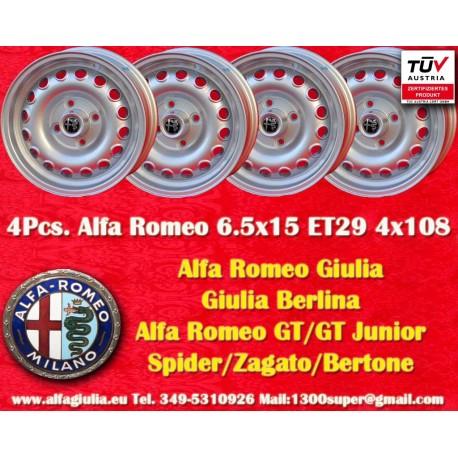 4 pcs. cerchi Alfa Romeo Giulia 6.5x15 ET29 4x108
