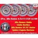 4 Stk. Felgen Alfa Romeo Giulia 6.5x15 ET29 4x108