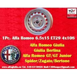 4 pcs. Alfa Romeo Giulia 6.5x15 ET29 4x108 wheels