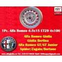 1 pc Alfa Romeo Giulia 6.5x15 ET29 4x108 wheel