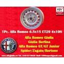 1 Stk. Felge Alfa Romeo Giulia 6.5x15 ET29 4x108