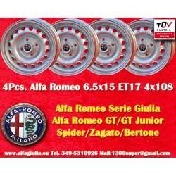 4 pcs. jantes Alfa Romeo Giulia 6.5x15 ET29 4x108