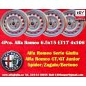 4 Stk. Felgen Alfa Romeo Giulia 6.5x15 ET17 4x108