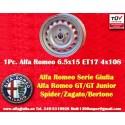 1 pc Alfa Romeo Giulia 6.5x15 ET17 4x108 wheel