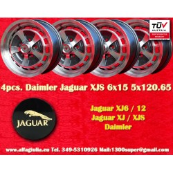 4 pcs. Jaguar Daimler 6x15 Jaguar XJ6/12 XJS wheels