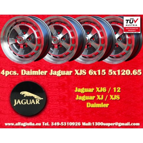4 Cerchi Jaguar Daimler 6x15 Jaguar XJ6/12 XJS
