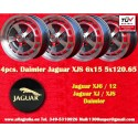 4 Stk. Alufelgen Jaguar Daimler 6x15 Jaguar XJ6/12 XJS