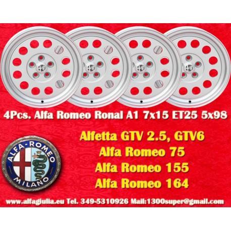4 pz. Ruedas Ronal A1 style para Alfa Romeo 7x15 ET25 PCD 5x98