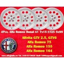 4 Stk. Felgen Ronal A1 Style für Alfa Romeo 7x15 ET25 5x98 Lk. 5x98 mit TÜV
