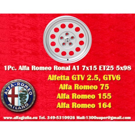 1 pz. llanta Ronal A1 style para Alfa Romeo 7x15 ET25 5x98 PCD 5x98