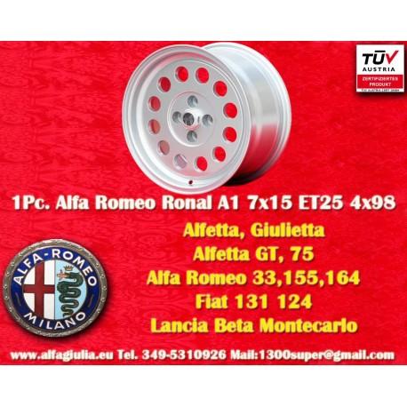 4 pz. Ruedas Ronal A1 style para Alfa Romeo 7x15 ET25 PCD 4x98