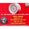 1 pc Alfa Romeo Ronal A1 Style Alloy Wheel 7x15 ET25 4x98 wheel
