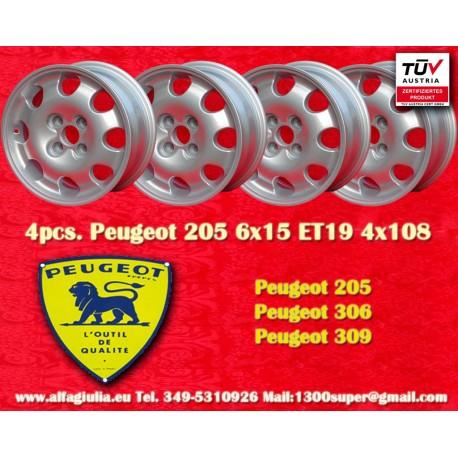 Peugeot 205 306 309 6x15 ET19 4x108  wheel