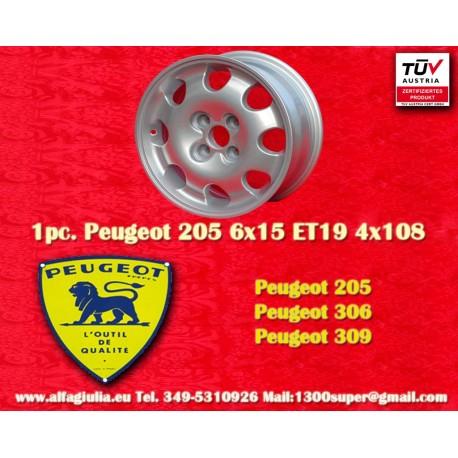 Llanta Peugeot 205 306 309 6x15 ET19 4x108