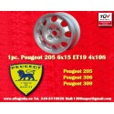 1 pz. Llanta Peugeot 205 306 309 6x15 ET19 4x108